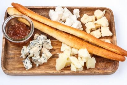 Cheese: gorgonzola, pecorino, parmesan, goat