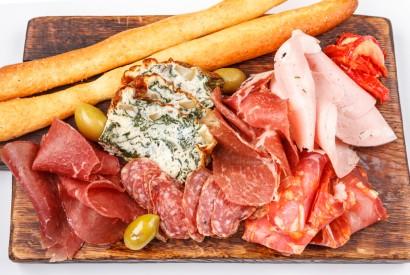 Sausage: salami, mortadella, prosciutto, chorizo, bresaola