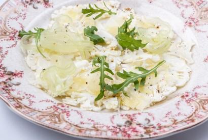 Cauliflower carpaccio with pecorino