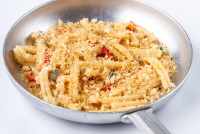 Casarecce with anchovies and bread crumbs